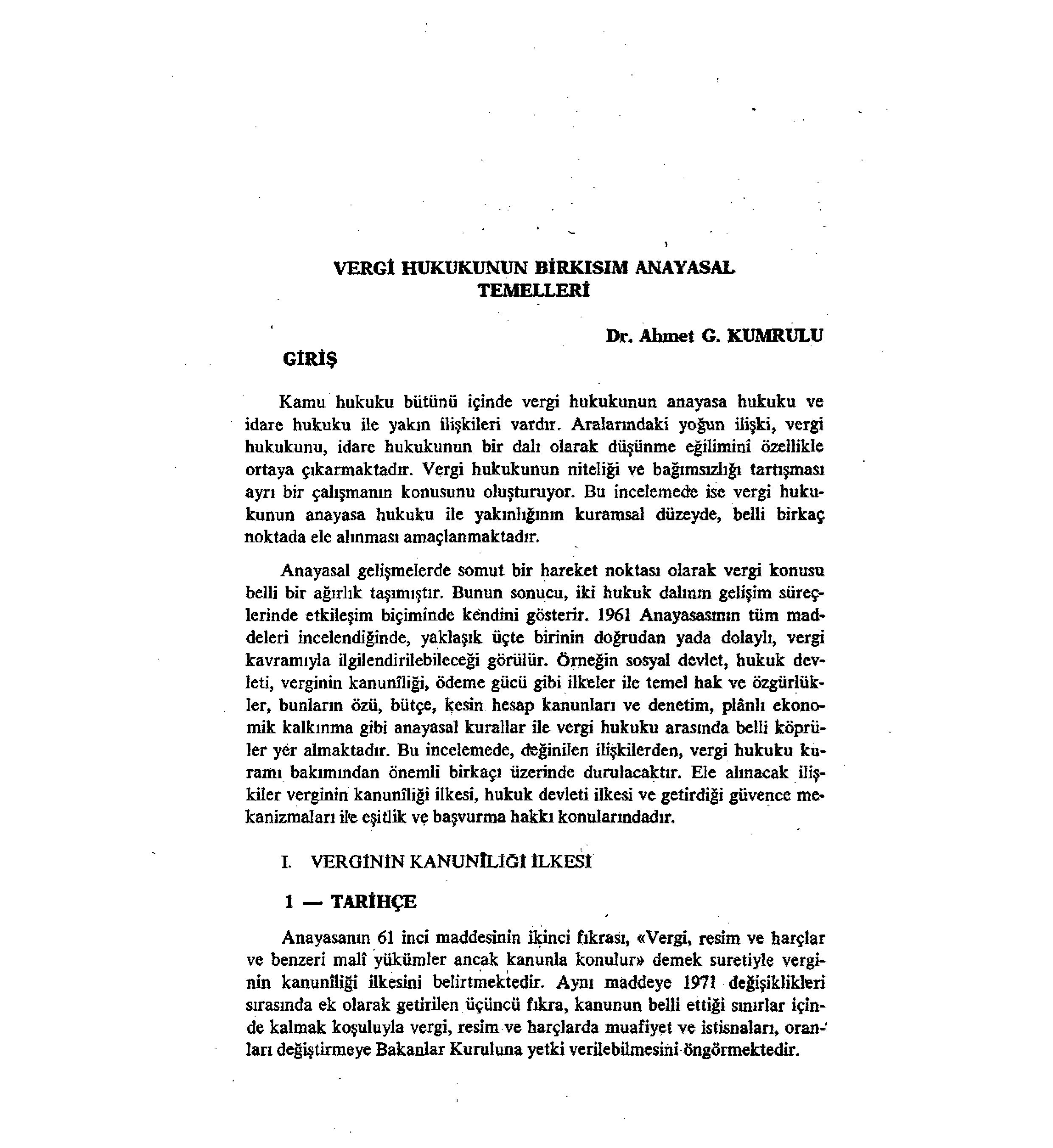 Jurix Vergi Hukukunun Birkısım Anayasal Temelleri